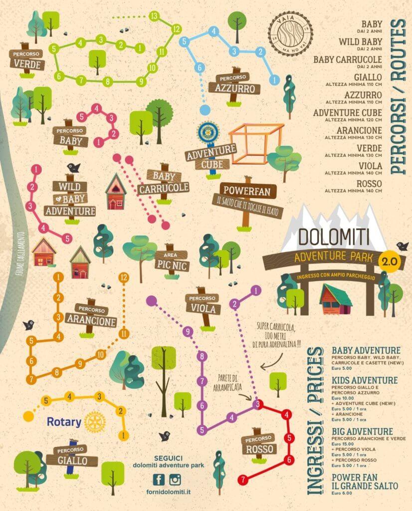 Mappa Parco Avventura